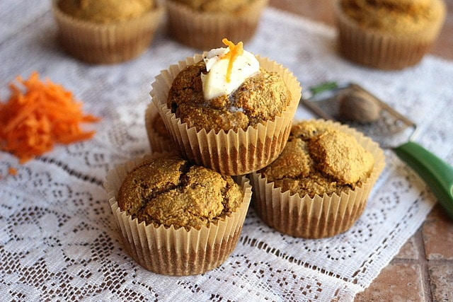 Oat Flour Carrot Cake Muffins (Gluten-Free, Nut-Free) - Oatmeal with a ...
