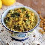 Moroccan-Spiced Quinoa with Roasted Broccoli and Chickpeas (Vegan, Gluten-Free)