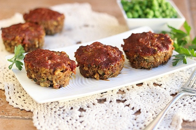 Vegetable Meatloaf Sliders (GF, Egg-Free) - Oatmeal with a Fork