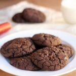Fudgy Double Dark Chocolate Black Bean Cookies (Vegan, GF, Nut-Free)