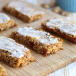Sweet Potato Breakfast Bars with Vanilla Coconut Butter Icing (Vegan, Gluten-Free)