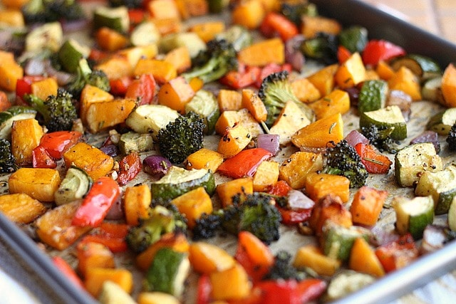 Balsamic Rosemary Roasted Vegetables (Vegan, Grain-Free) - Oatmeal ...