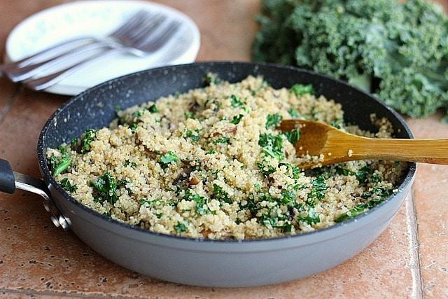 Easy Kale Fried Quinoa (Vegan, Primal) 6