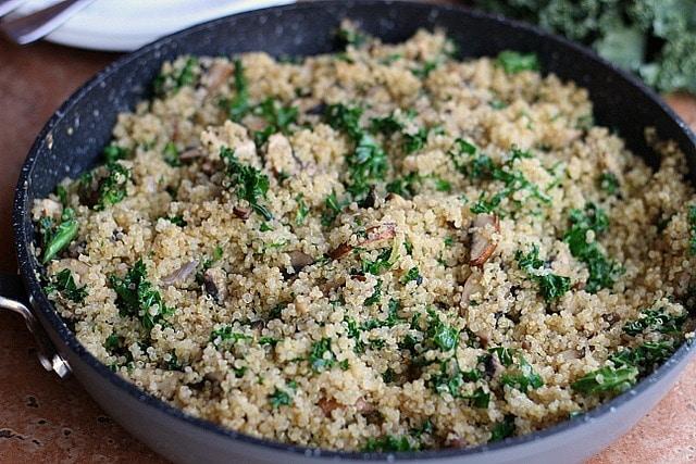 Easy Kale Fried Quinoa (Vegan, Primal) 8