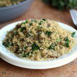 Easy Kale Fried Quinoa (Vegan, Primal)