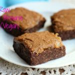 XXX Raw Sticky Brownie Bars (Vegan, Paleo)