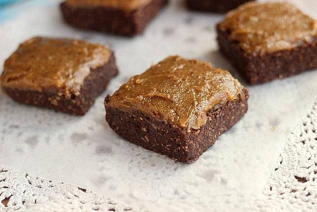 XXX Raw Sticky Brownie Bars (Vegan, Paleo) 2