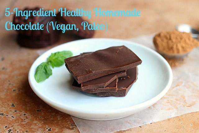 5-Ingredient Healthy Homemade Chocolate (Vegan, Paleo)