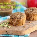 Autumn-Spiced Zucchini Apple Muffins (Vegan)