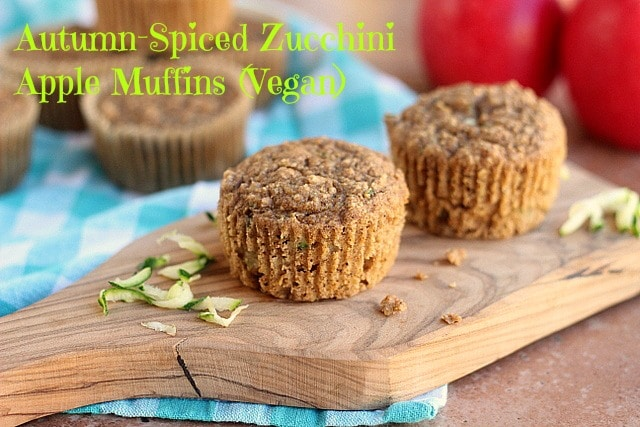 Autumn-Spiced Zucchini Apple Muffins (Vegan) - Oatmeal with a Fork