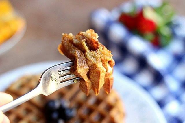 Easy Chickpea Flour Waffles (Gluten-Free) - Oatmeal with a Fork
