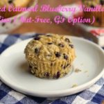Soaked Oatmeal Blueberry Vanilla Muffins (Nut-Free, GF Option)