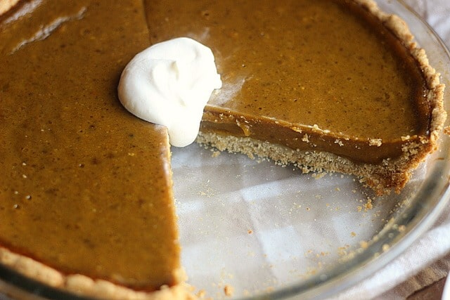 Clean Honey Pumpkin Pie (Egg-Free, Dairy-Free, Oil-Free) 4
