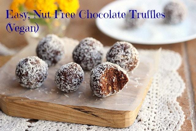 Easy, Nut-Free Chocolate Truffles (Vegan)