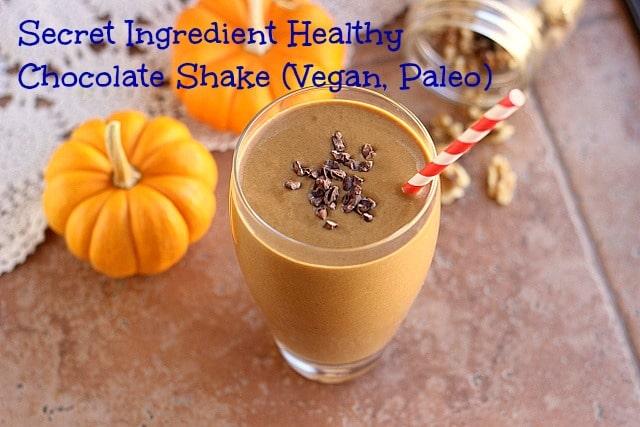 Secret Ingredient Healthy Chocolate Shake (Vegan, Paleo) 1