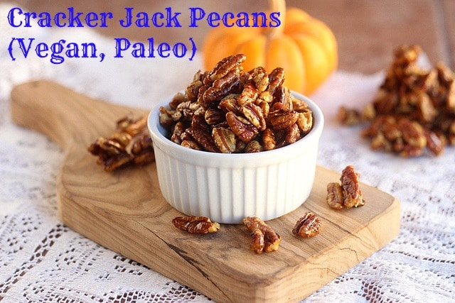Cracker Jack Pecans (Vegan, Paleo)