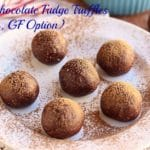 Mint Chocolate Fudge Truffles (Vegan, GF Option)
