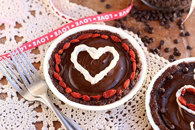 Mini Raw Chocolate Love Pies (Gluten-Free) 3