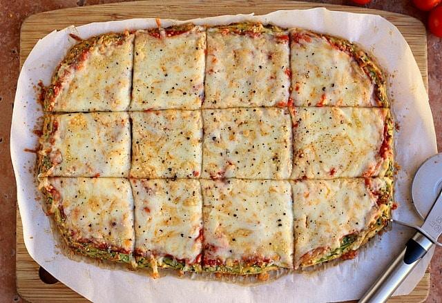 Nut-Free and Gluten-Free Zucchini Pizza Crust 3