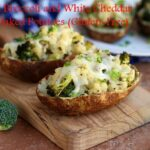 Roasted Broccoli and White Cheddar Twice-Baked Potatoes (Gluten-Free)
