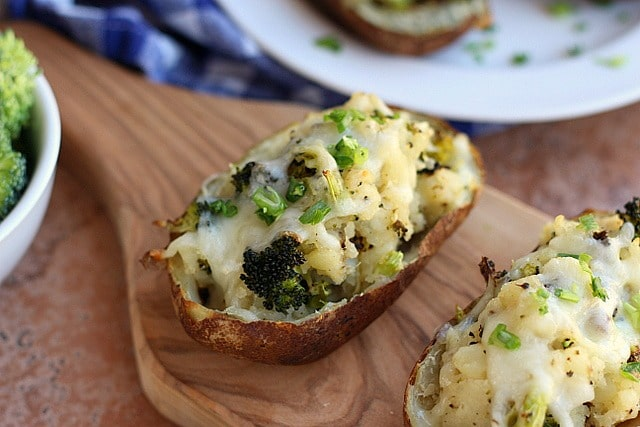 Roasted Broccoli and White Cheddar Twice-Baked Potatoes (Gluten-Free) 3