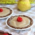 Easy Raw Pear Tarts (Vegan, Paleo)
