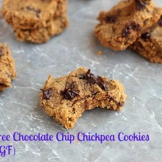 Sugar-Free Chocolate Chip Chickpea Cookies (Vegan, GF)