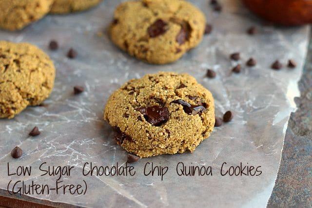 Low Sugar Chocolate Chip Quinoa Cookies (Gluten-Free)