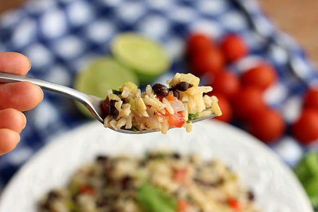 Meatless Monday Rice and Beans (Vegan) 4