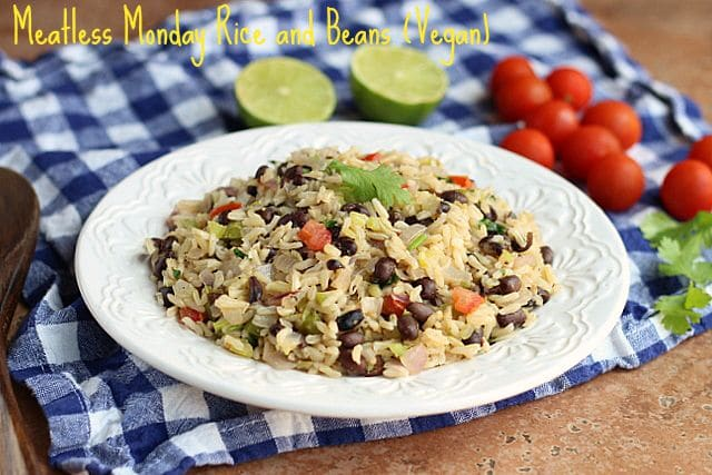 Meatless Monday Rice and Beans (Vegan)