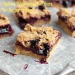 Cinnamon-Spiced Blueberry Pie Bars (Oil-Free, No Sugar Added)