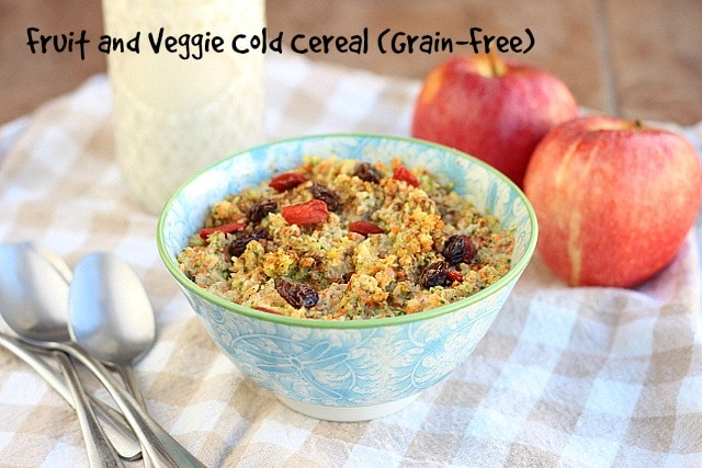 Fruit and Veggie Cold Cereal (Grain-Free)