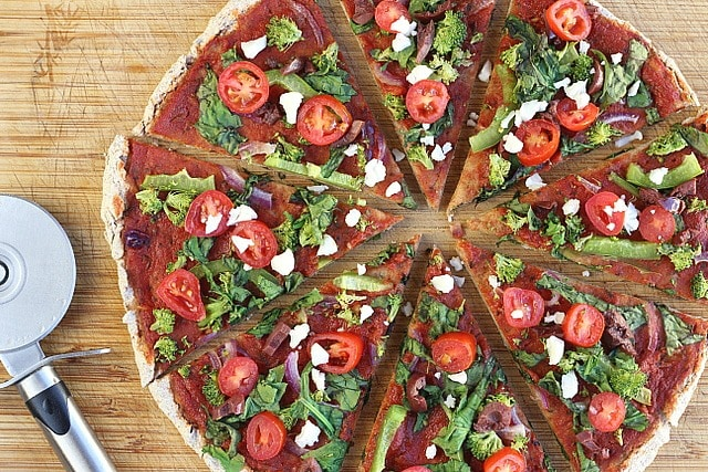 Oil-Free, Yeast-Free Spelt Pizza Crust (Vegan) 2