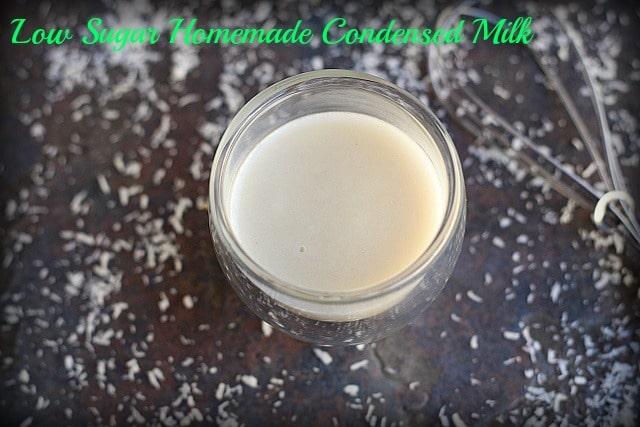 Low Sugar Homemade Condensed Milk