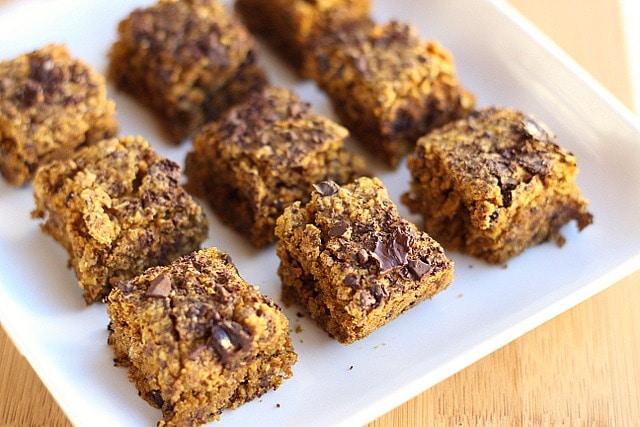 Chocolate Chip Pumpkin Bars (Vegan, Low Sugar) 4