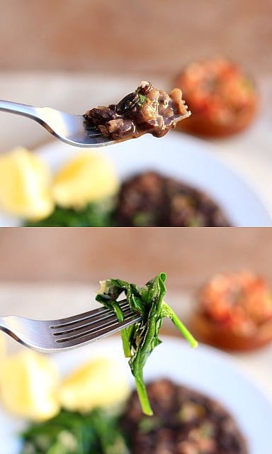 Garlicky Beans and Lemony Greens 1