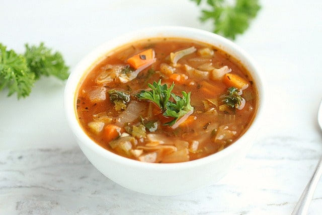 Low Calorie Spicy Cabbage Soup 3