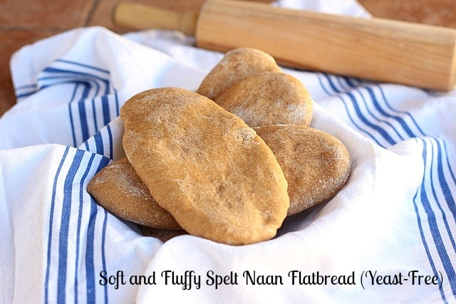 Soft and Fluffy Spelt Naan Flatbread (Yeast-Free)