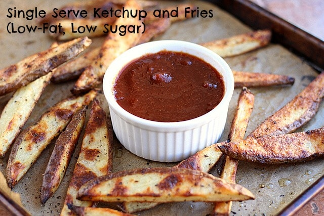 Single Serve Ketchup and Fries (Low-Fat, Low Sugar)