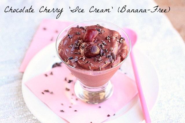Chocolate Cherry 'Ice Cream' (Banana-Free)