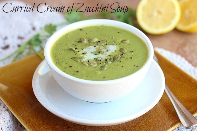 Curried Cream of Zucchini Soup - Oatmeal with a Fork