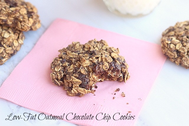 Low-Fat Oatmeal Chocolate Chip Cookies - Oatmeal with a Fork