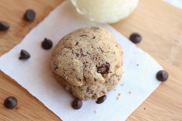 Almost Sugar-Free Buckwheat Chocolate Chip Cookies 4
