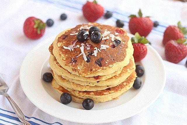 Sugar-Free Patriotic Chickpea Flour Pancakes 3