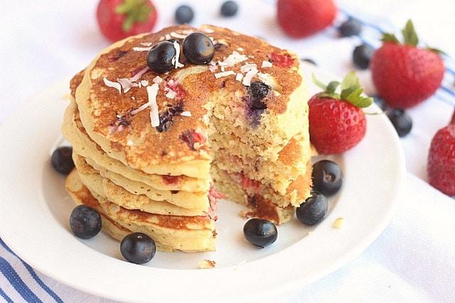 Sugar-Free Patriotic Chickpea Flour Pancakes 4