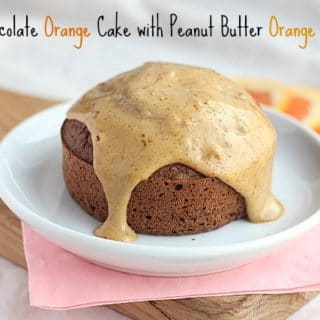 Bitter Chocolate Orange Cake with Peanut Butter Orange Frosting (for One)