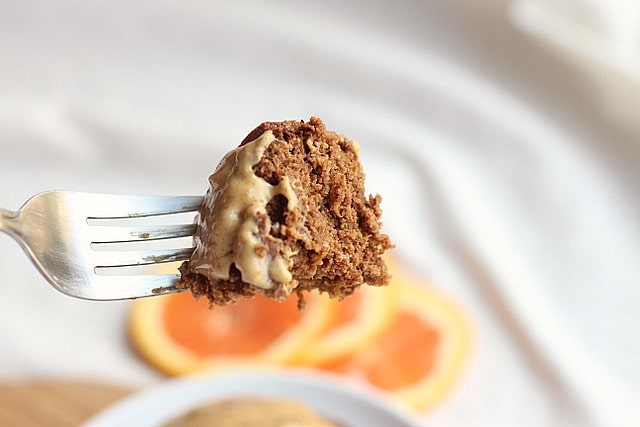 Bitter Chocolate Orange Cake with Peanut Butter Orange Frosting (for One) 5