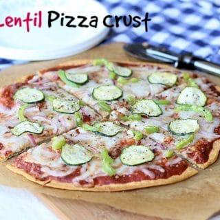 Red Lentil Pizza Crust