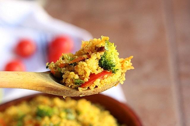 Curried Vegetable Quinoa Bowls