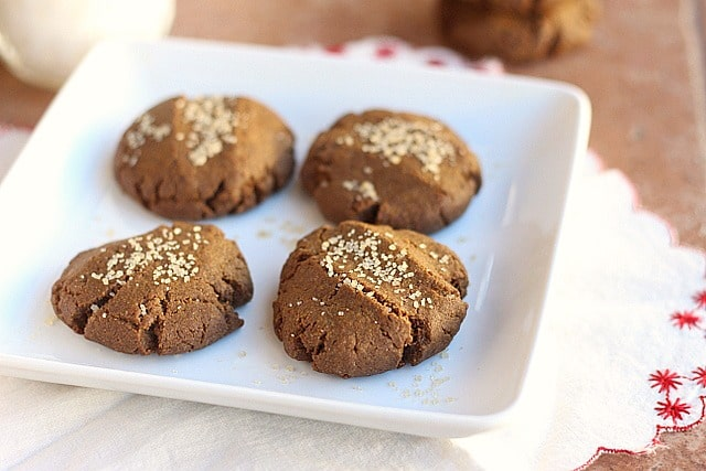 Healthy Whole Grain Gingersnaps